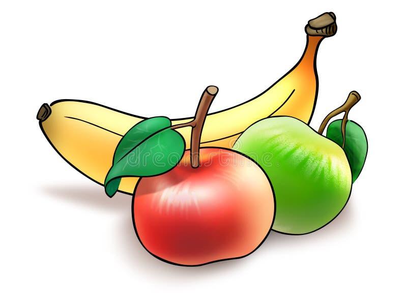 banta frukt royaltyfri illustrationer