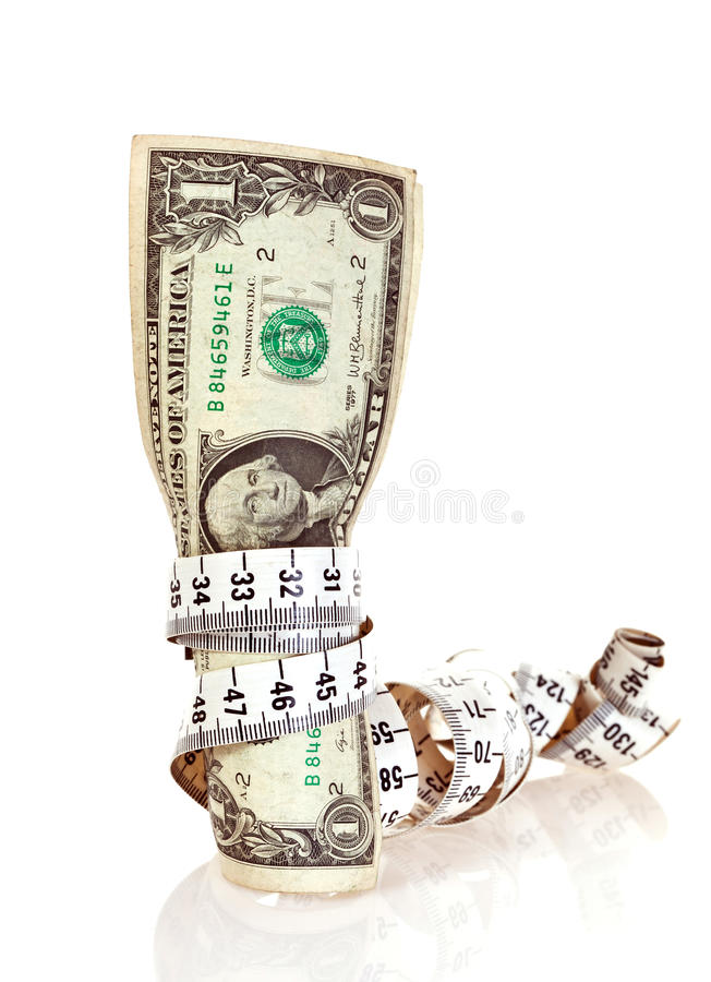 banta pengar royaltyfri bild