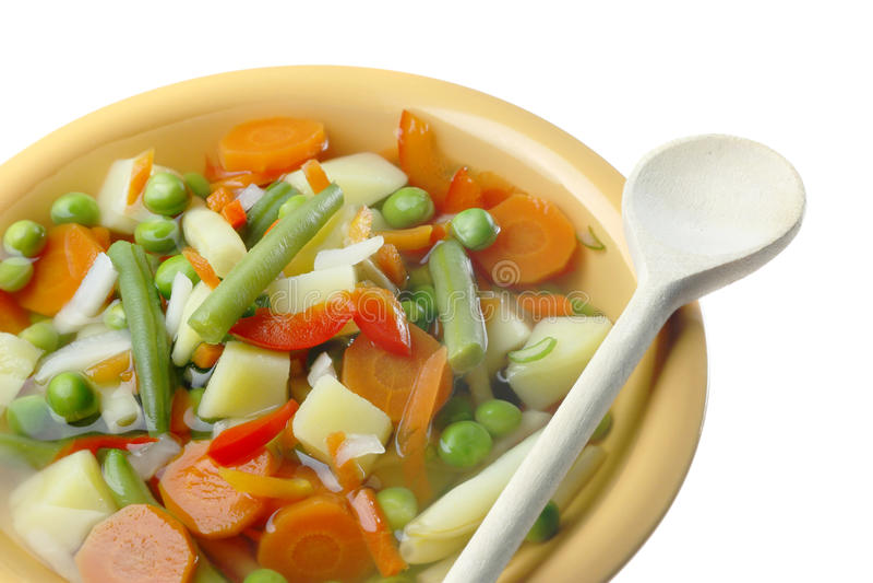 banta soupgrönsaken royaltyfria bilder