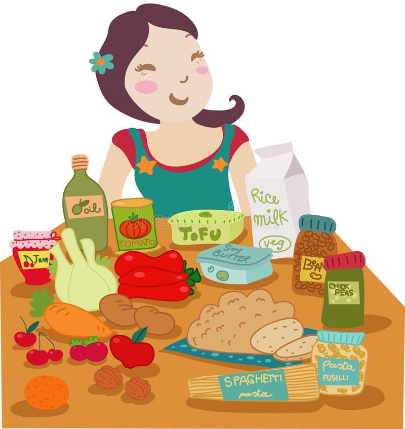 banta veganen royaltyfri illustrationer