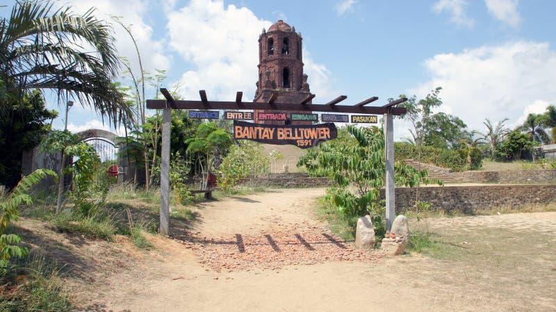 Bantany Belltower, distrito de Bantany, Vigan imagen de archivo