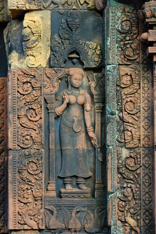 banteay cambodia för angkor srei arkivbilder
