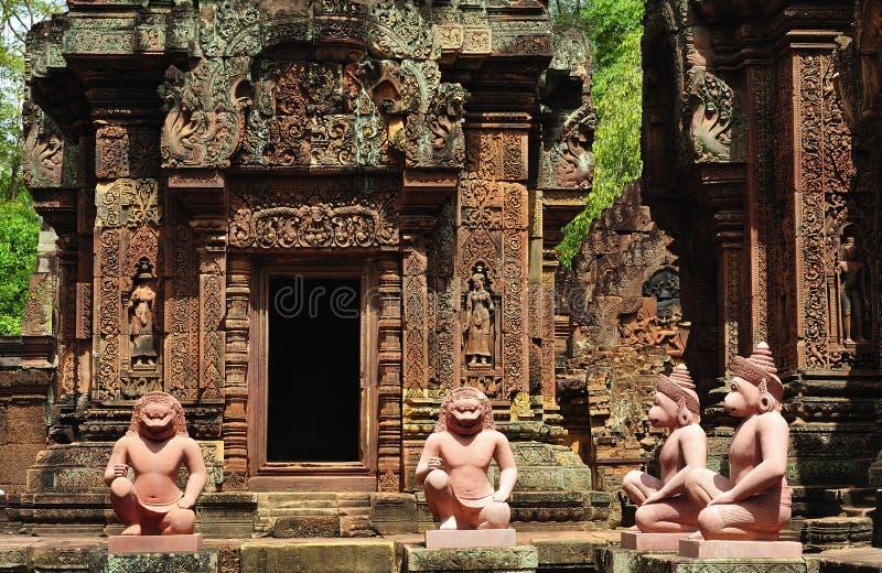 banteay cambodia för angkor srey arkivfoton