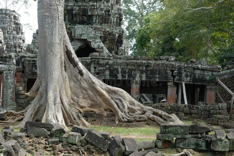 Download Banteay Kdei, Cambodia stock image. Image of overgrown - 3596215