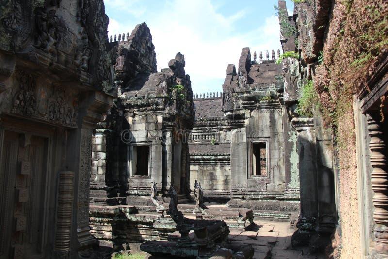 Banteay Samre świątynia Kambodża Siem Przeprowadza żniwa prowincję Siem Przeprowadza żniwa miasto fotografia royalty free