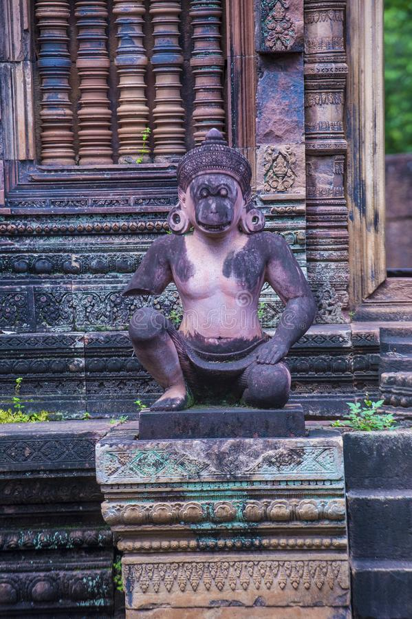 Banteay Srei寺庙在柬埔寨 免版税库存图片