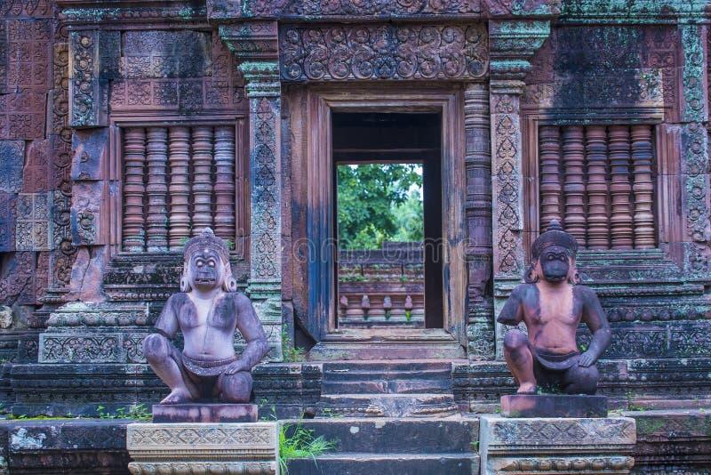 Banteay Srei寺庙在柬埔寨 免版税库存照片