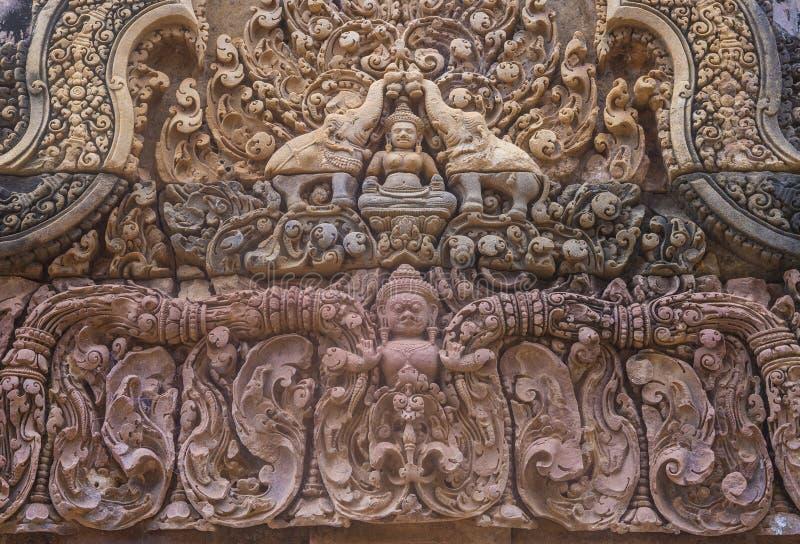 Banteay Srei świątynia w Kambodża zdjęcie royalty free