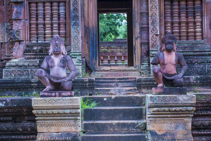 Banteay Srei świątynia w Kambodża zdjęcia royalty free
