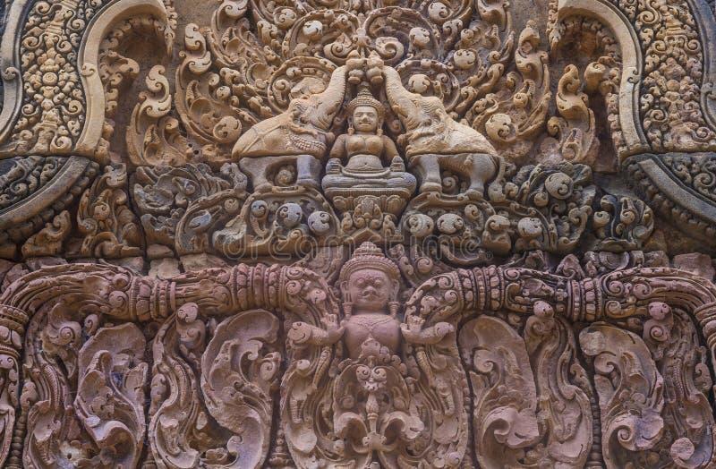 Banteay Srei świątynia w Kambodża obraz royalty free