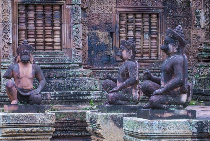 Banteay Srei świątynia w Kambodża obraz stock