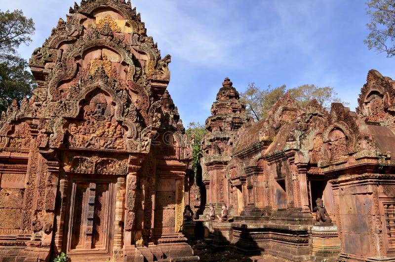 Banteay Srei, Angkor, Cambodge photo stock
