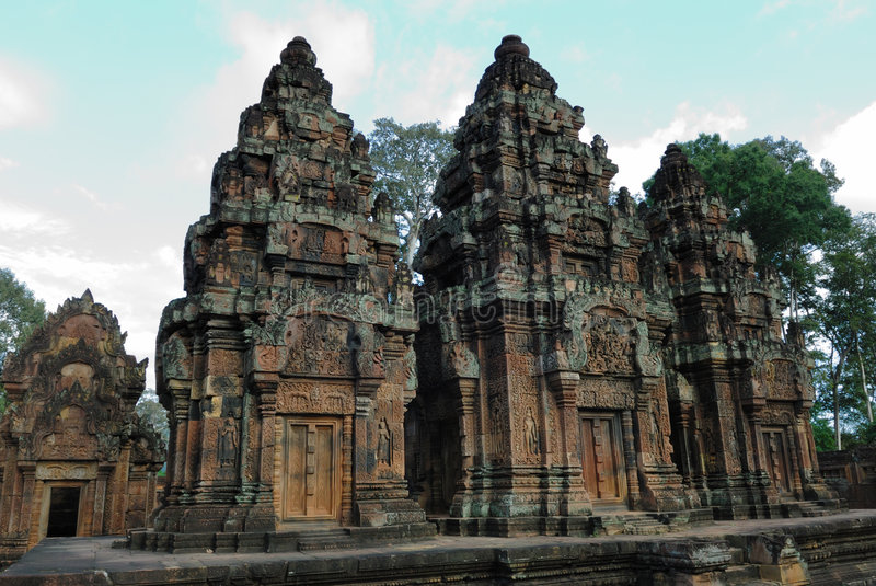 Download Banteay Srei, Angkor, Cambodia Stock Image - Image: 3662941