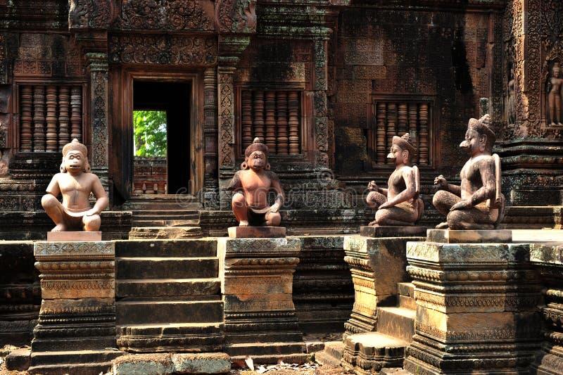 Banteay Srei Angkor Wat imagens de stock