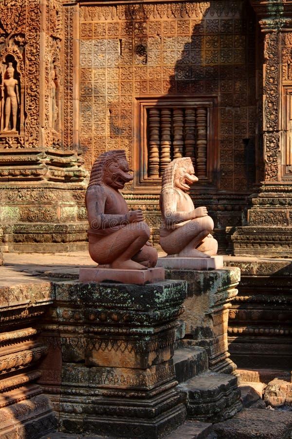 Banteay Srei, Angkor Wat, Kambodja stock fotografie