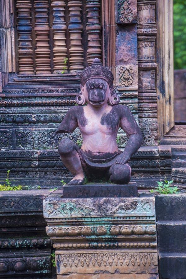 Banteay Srei tempel i Cambodja royaltyfria bilder