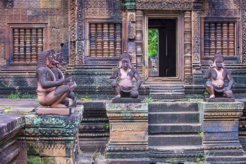 Banteay Srei tempel i Cambodja arkivfoto