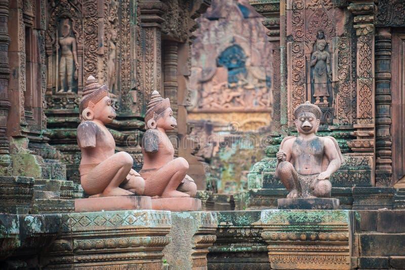 Banteay Srei Temple, Angkor, Cambodia royalty free stock image