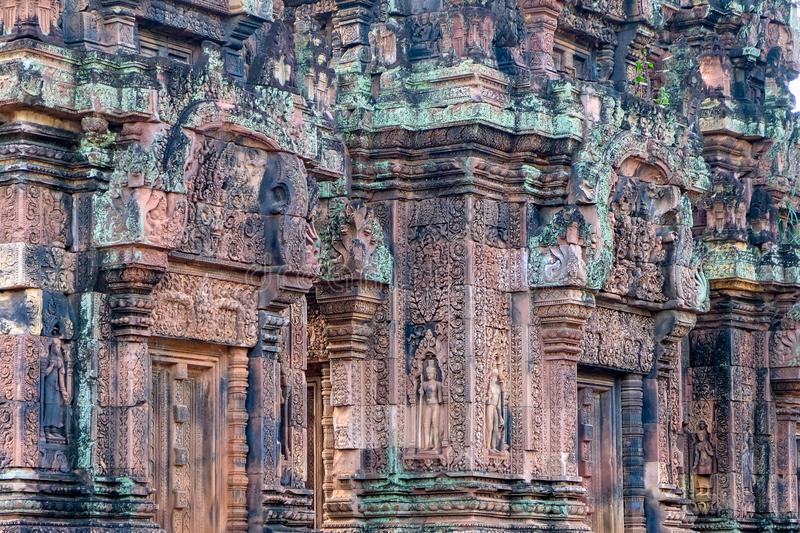 Ancient temple in cambodia. Banteay Srei Temple Ban Tai Srei Temple of the Angkor Complex in Cambodia. Banteay Srei Temple Ban Tai Srei Temple of the Angkor royalty free stock photo