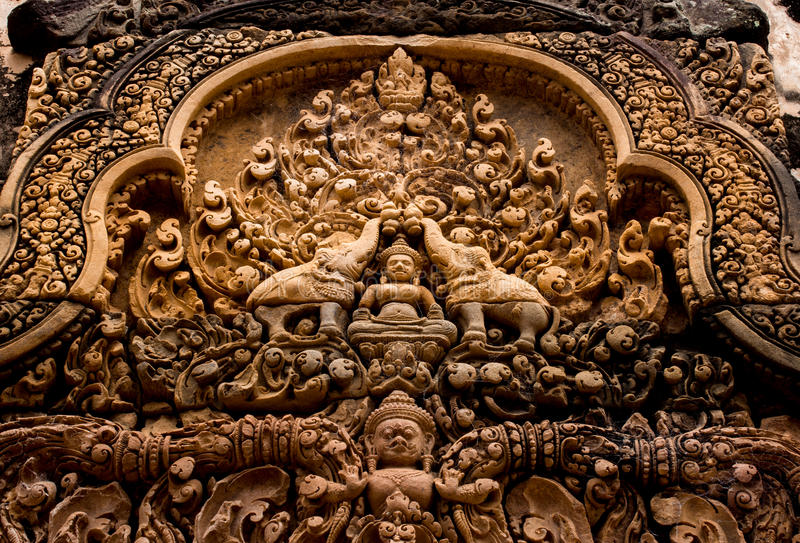 Download Banteay Srei Temple Stone Carved Stock Image - Image: 26084925