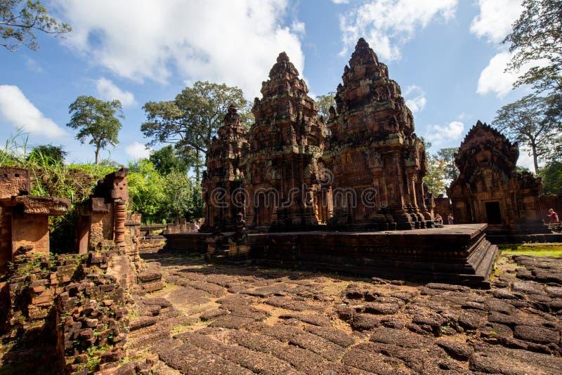 Banteay Srei zakazu Tai Srei Świątynna świątynia, Angkor kompleks zdjęcia royalty free