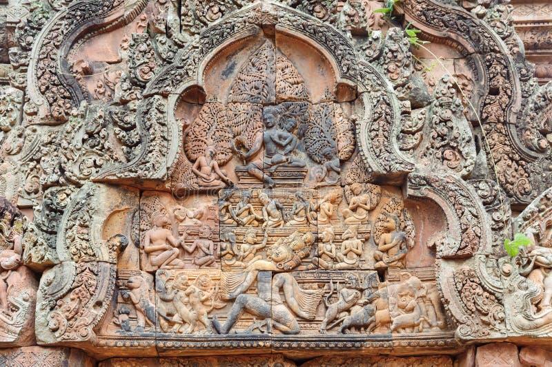 Banteay Srey Bas Reliefs stock image