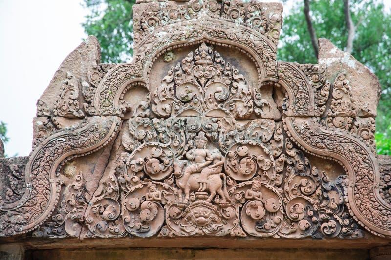Banteay Srey Bas Reliefs stock images