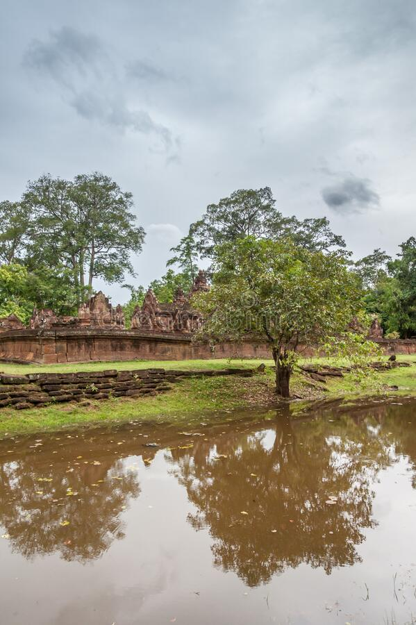 Banteay Srey Moat royalty free stock photo