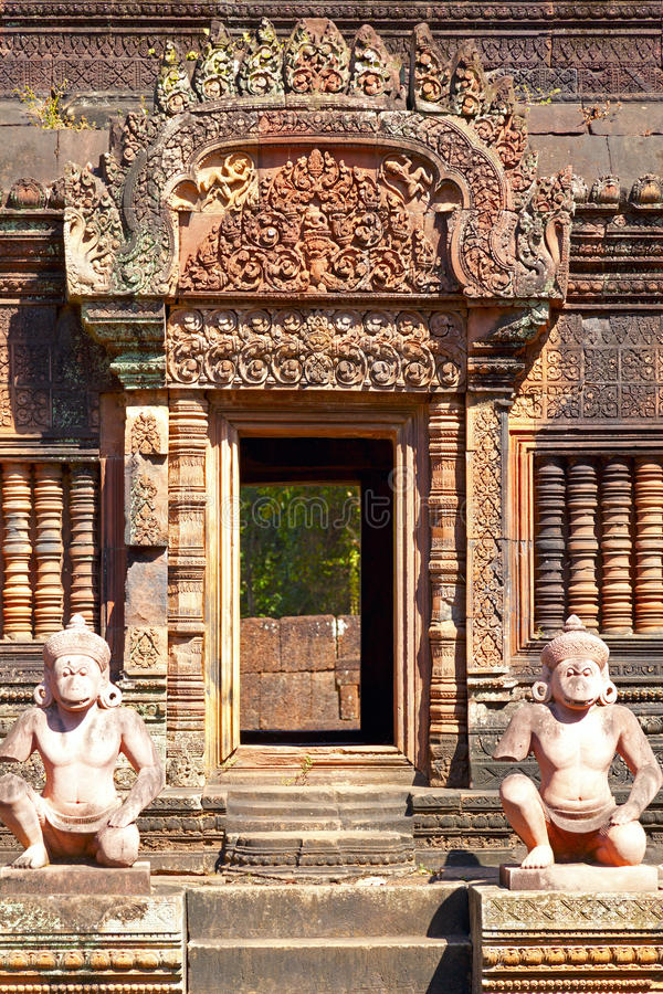 Download Banteay Srey temple stock photo. Image of stone, details - 26022702