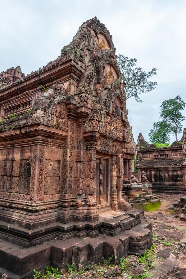 Banteay Srey Temple Ruins royalty free stock images