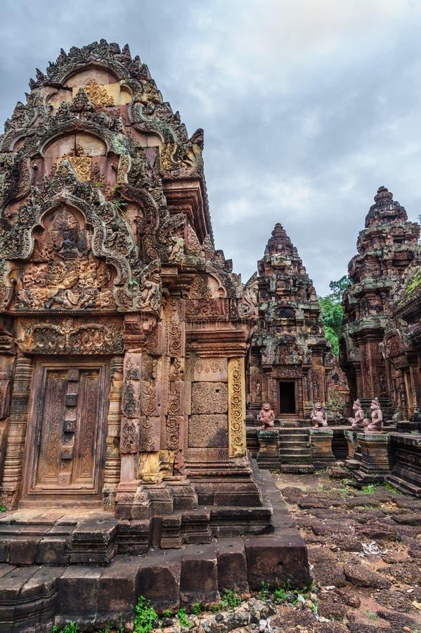 Banteay Srey Temple Ruins stock photos