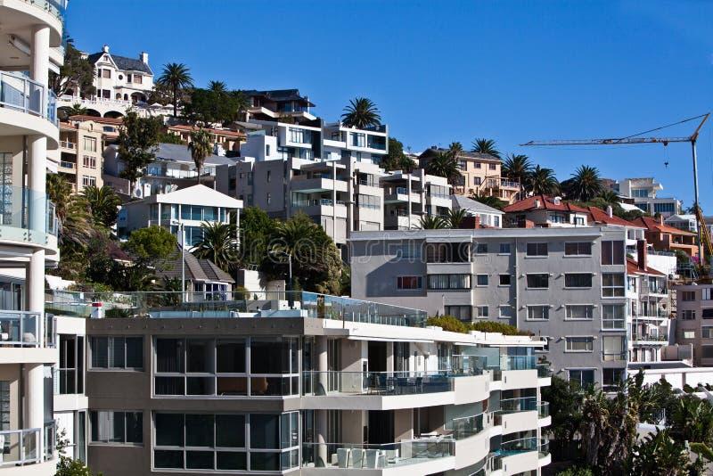 Bantry-Buchtskyline Kapstadt, Südafrika stockbild