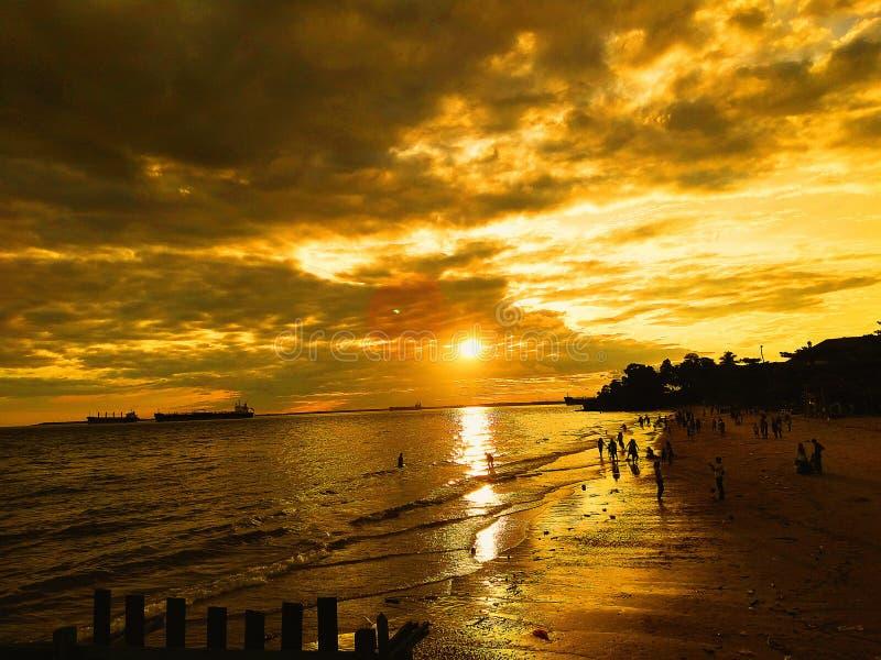 Banua-patra Strand stockbilder
