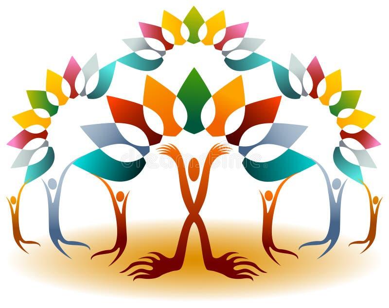 Banyan δέντρο ανθρώπων απεικόνιση αποθεμάτων