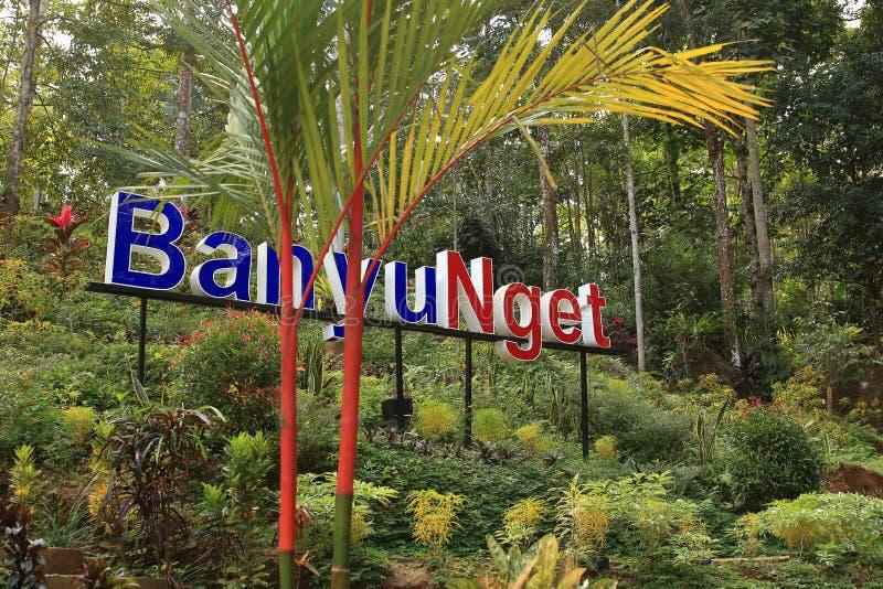 Banyu Nget, Trenggalek, East Java, Indonesien arkivfoton