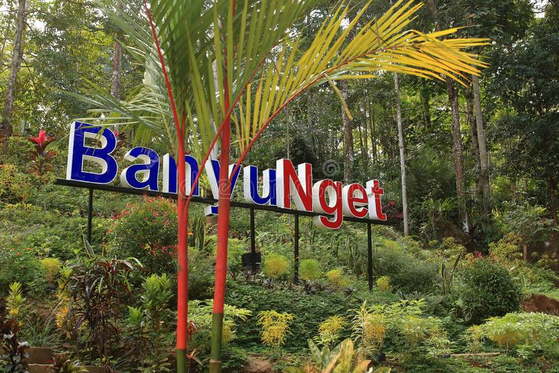 Banyu Nget, Trenggalek, Java Oriental, Indonesia fotos de archivo