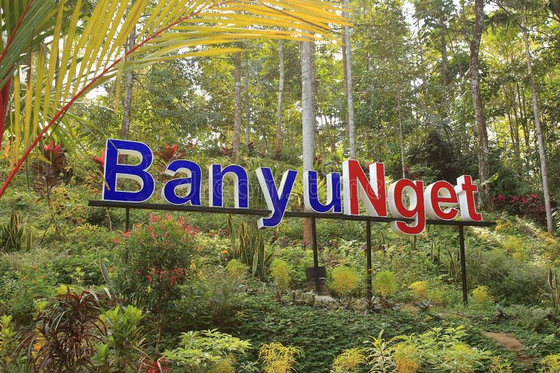 Banyu Nget, Trenggalek, Java Oriental, Indonesia imagen de archivo