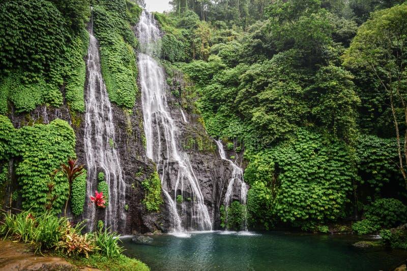 Banyumala twin waterfall in Bali, Indonesia stock photo