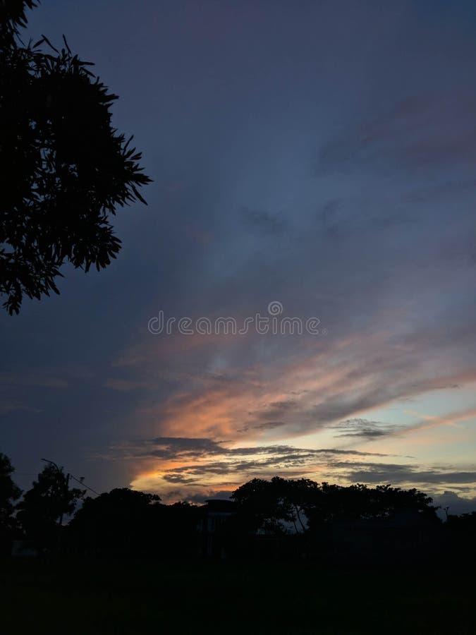 Amazing Morning With Clear Sky Banyuwangi Indonesia. Banyuwangi, Indonesia - November  18, 2019 : Beautiful Morning In Banyuwangi royalty free stock photos