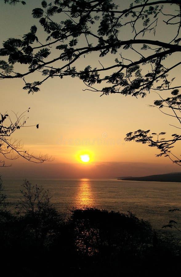 Amazing Morning With Clear Sky Banyuwangi Indonesia. Banyuwangi, Indonesia - November  18, 2019 : Beautiful Morning In Banyuwangi royalty free stock images