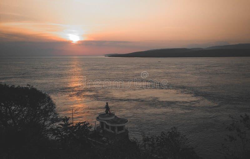 Amazing Morning With Clear Sky Banyuwangi Indonesia. Banyuwangi, Indonesia - November  18, 2019 : Beautiful Morning In Banyuwangi stock photo