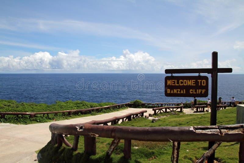 Banzaiklip in Saipan royalty-vrije stock foto's