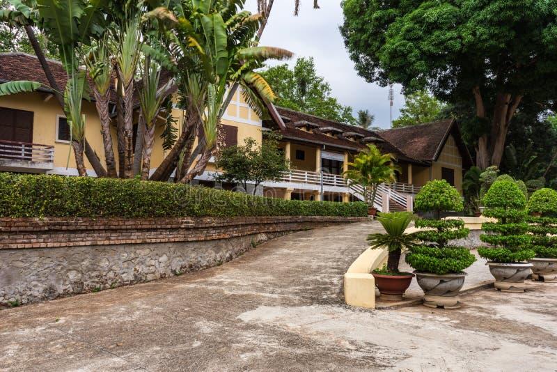 Bao Dai-paleis, Documentair Hoofdartikel, de stad van Buon Ma Thuot, Dak-LAK, Vietnam royalty-vrije stock foto