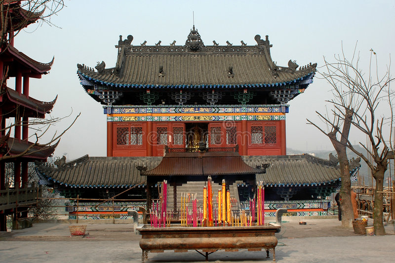 bao lun寺庙 免版税图库摄影
