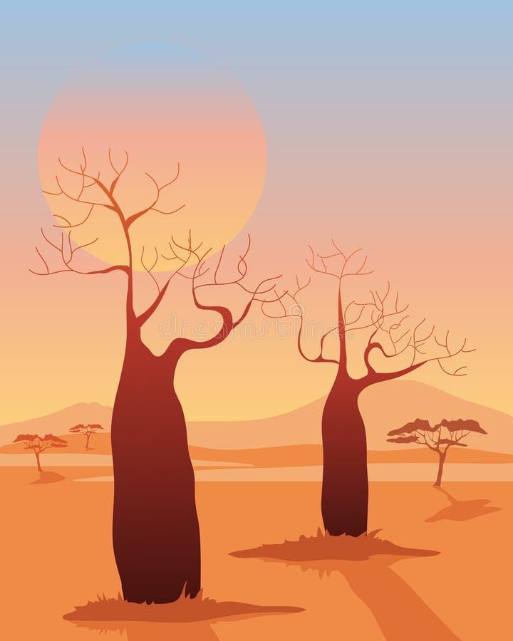 Baobab illustration de vecteur