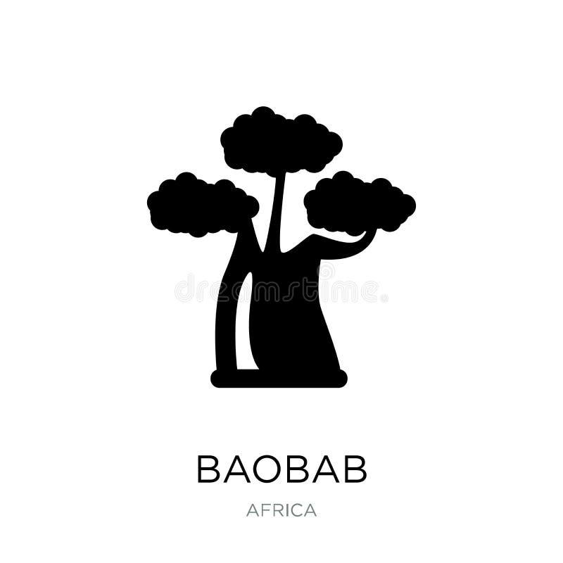 baobab ikona w modnym projekta stylu baobab ikona odizolowywająca na białym tle baobab wektorowej ikony prosty i nowożytny płaski ilustracji