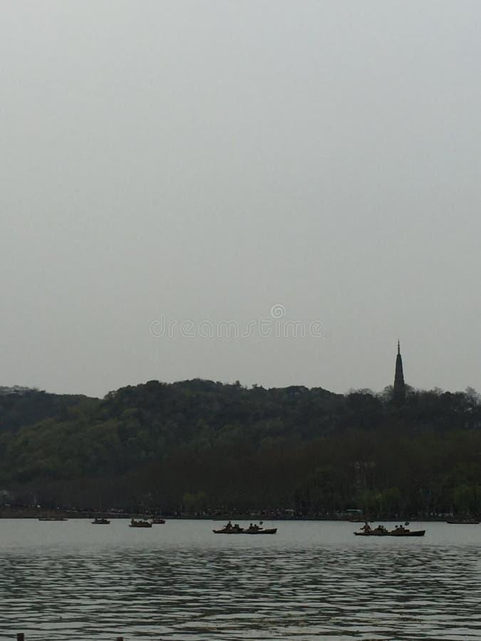Baochu tower of Hangzhou stock images