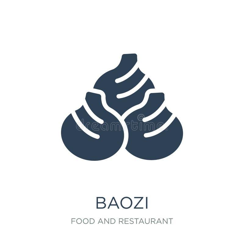 baozi ikona w modnym projekta stylu baozi ikona odizolowywająca na białym tle baozi wektorowej ikony prosty i nowożytny płaski sy ilustracja wektor