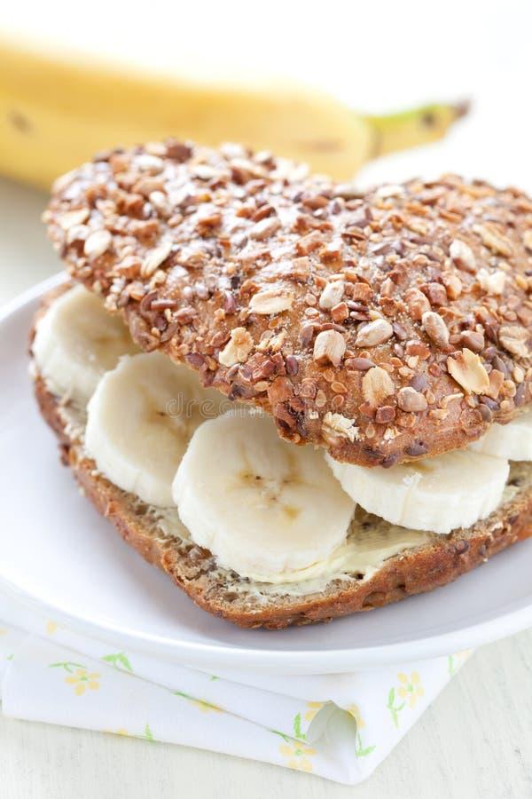 Bap avec la banane image stock