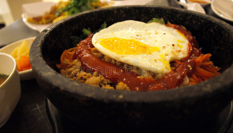 bap bibim κορεατικό ρύζι στοκ εικόνες με δικαίωμα ελεύθερης χρήσης